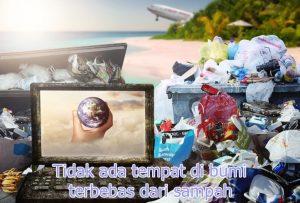 bumi dibanjiri sampah